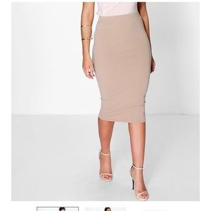 Beige brown skirt